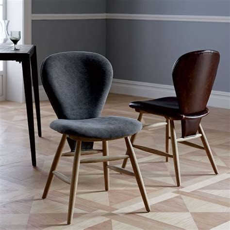 attic leather dining chair west elm