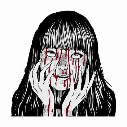 Aesthetic Grunge Creepy Scary Horror Sticker Anime