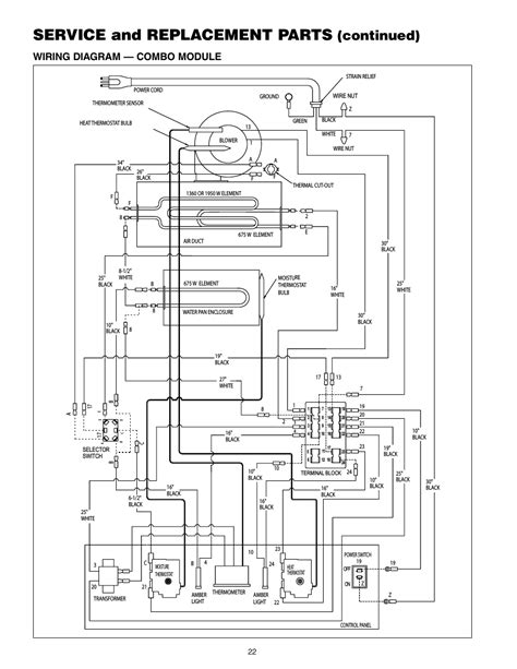 Element In Series Wiring Diagram by Service And Replacement Parts Continued Wiring Diagram