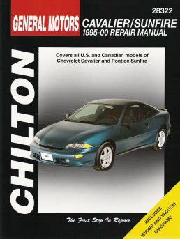 book repair manual 1991 pontiac lemans instrument cluster 1995 2000 chevrolet cavalier pontiac sunfire chilton s total car care manual