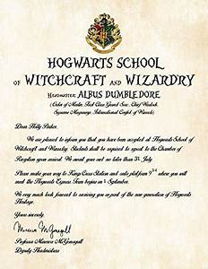 personalized harry potter acceptance letter hogwarts With hogwarts acceptance letter amazon