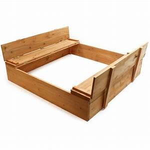 Bac à Sable Bois : bac sable avec couvercle rabattable bac sable avec ~ Premium-room.com Idées de Décoration