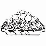 Spaghetti Pasta Clip Clipart Coloring Dinner Lasagna Clipartmag Template Gclipart sketch template