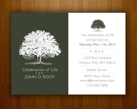 mourning card  memorial funeral announcements  invites