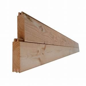 Lame Bois Pour Construction Chalet : madrier double embo tement douglas autoclave marron 45x135mm 4m sud bois terrasse bois ~ Melissatoandfro.com Idées de Décoration