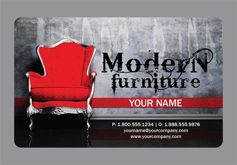 sample interior design furniture business card  arc