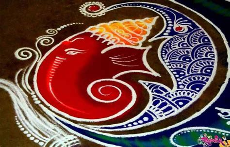 latest ganesh rangoli designs ideas  pictures
