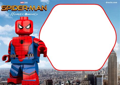 printable marvels lego invitation  invitation