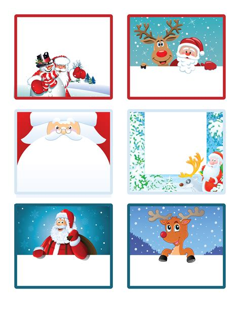 Printable Christmas Labels  Happy Holidays