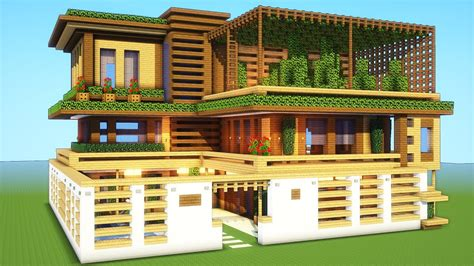minecraft houses minecraft how to build a large mansion house tutorial