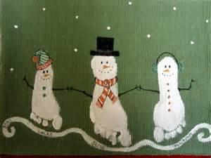 Christmas Footprint Snowman