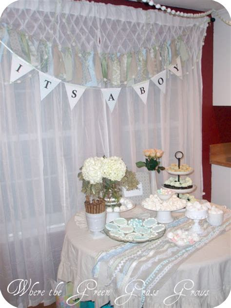 shabby chic baby boy shower where the green grass grows designs shabby chic boy baby shower
