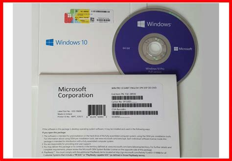 software original coa windows 10 pro 32bit 64 bit oem tanpa cd microsoft software operating system windows 10 product key