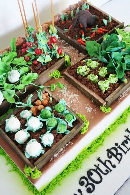 vegetable garden cake    cake decorating