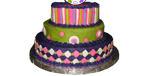 Hot Pink, Purple And Lime Green Cake