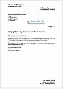 Wohnung Kündigen Per Email : k ndigungsschreiben arbeitsvertrag vorlage muster ~ Lizthompson.info Haus und Dekorationen