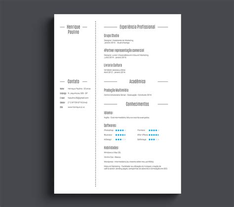Resume Template Minimalist by 10 Gorgeous Minimalist Resume Templates The American Genius
