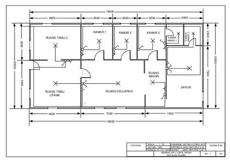 gambar satu garis denah instalasi rumah