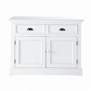 Buffet Blanc Maison Du Monde : buffet en bois blanc l 106 cm newport maisons du monde ~ Teatrodelosmanantiales.com Idées de Décoration