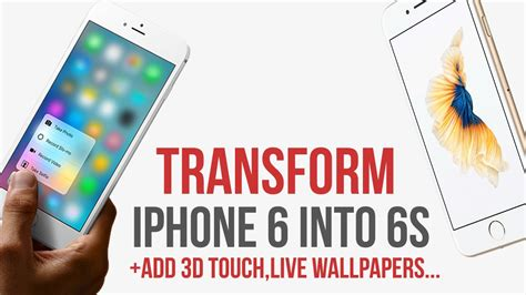 Transform Iphone 6 Into 6s / Add 3d Touch / Live