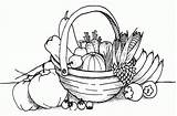 Coloring Fruit Basket Pages Colouring Popular sketch template