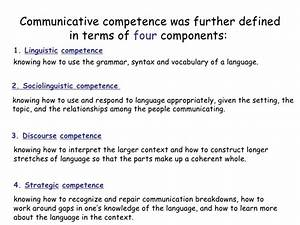 Communicative competence slides