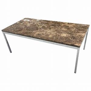 florence knoll emperador dark marble coffee table for With dark marble coffee table
