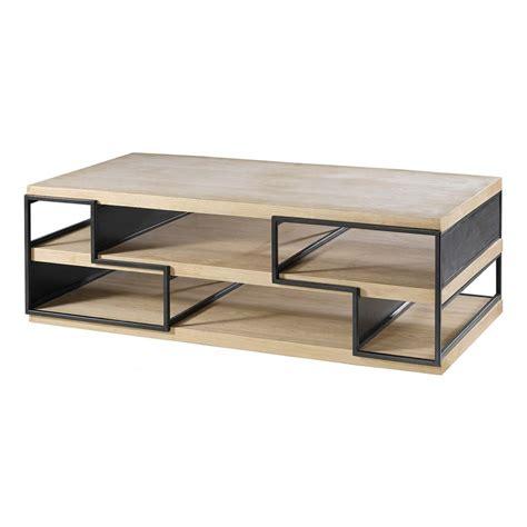 table basse bois et metal pas cher table basse chene et metal design en image