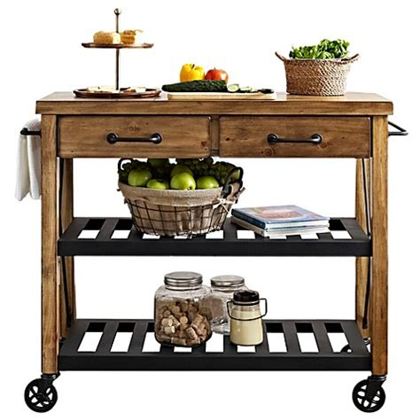 industrial kitchen island cart crosley roots rolling rack industrial kitchen cart bed 4667