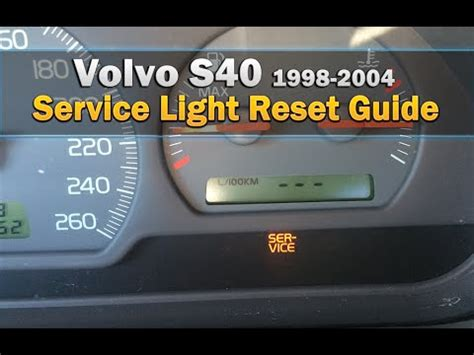 volvo  service light reset   youtube