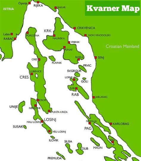 map  kvarner croatia croatia wise