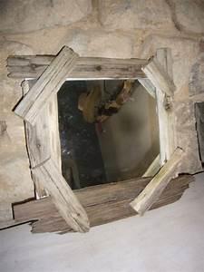 Miroir Bois Flotté : vente objet en bois flotte et galet relookage de vieux meubles steph deco ~ Teatrodelosmanantiales.com Idées de Décoration