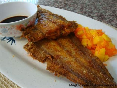 sole cuisine recipe pritong isda fried sole fish magluto
