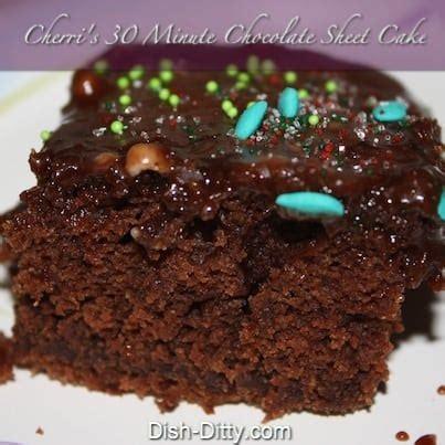 cherris  minute chocolate sheet cake recipe dish