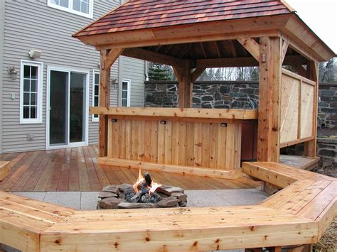covered pit out door living spaces