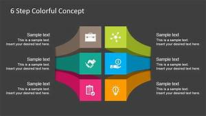 Text Features Powerpoint Free 6 Steps Colorful Diagram For Powerpoint Slidemodel