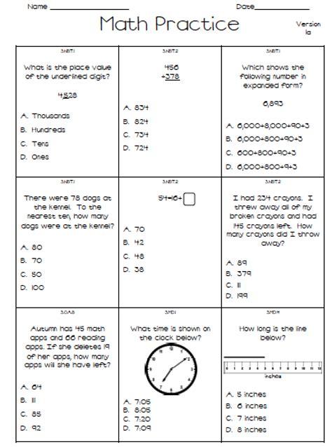 1st grade math test worksheets worksheets for all
