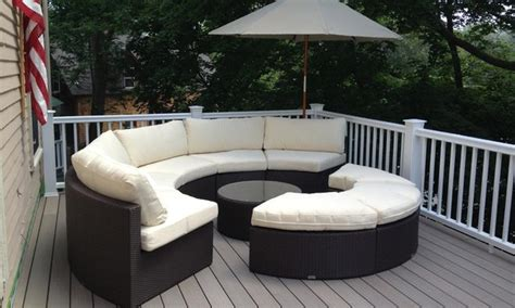 outdoor wicker sectional set traditional