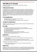 HSE Officer CV Sample Curriculum Vitae Builder Resume Examples Free 10 Good CV Sample Simple Good CV To Work In CV Format Design CV Templates CV Samples Example Sample Resume 85 FREE Sample Resumes By EasyJob Sample Resume