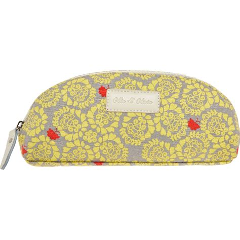 ollie olivia yellow patterned hanging cosmetic case