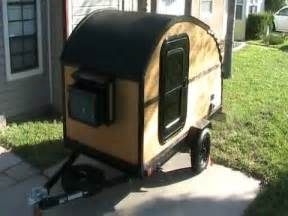 HOMEMADE TEARDROP TRAILER ALL MADE BY HAND ON A HARBOR