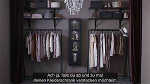 Ikea offener kleiderschrank fur modefans youtube for Offener schrank