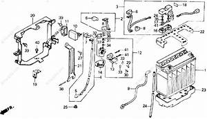 Honda Motorcycle 1987 Oem Parts Diagram For Battery