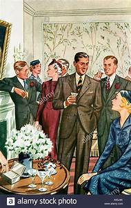 Cocktail Party 1937 fashion illustration of immaculately ...