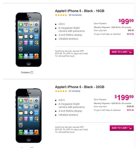 iphone 5 price at t iphone 5 now available at t mobile softpedia