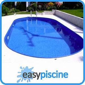 Piscine A Enterrer : kit piscine acier a enterrer 8 x 4 16 x ht 1 50 m ovale ~ Zukunftsfamilie.com Idées de Décoration