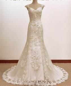 vintage trumpet mermaid a line lace wedding dress bridal gown With a line mermaid wedding dresses