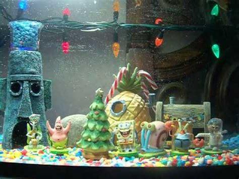 spongebob christmas aquarium youtube