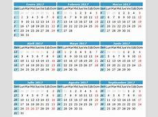 Calendario Escolar 2017 para Cuba Calendario 2017