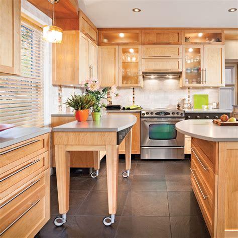 cuisine pratique et facile îlot sur roulettes cuisine inspirations décoration